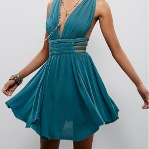 Free people Feel the Flava Dress in deep teal